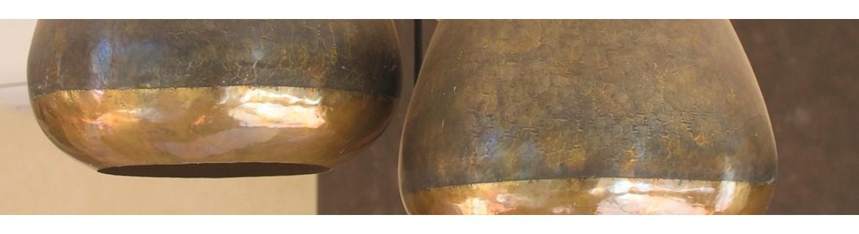 Luminaires en rotin, raphia, doum, cuivre, laiton | Marrakech deco
